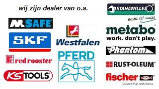 Induparts is dealer van de volgende merken: stahlwille, skf, westfalen, kstools, pferd, fischer, rust-oleum, phantom, metabo, red rooster, m-safe